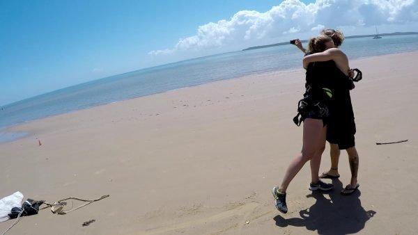 Soft landing on sand