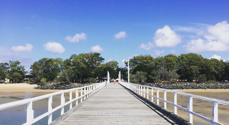 Looking back at Urangan from its pier.